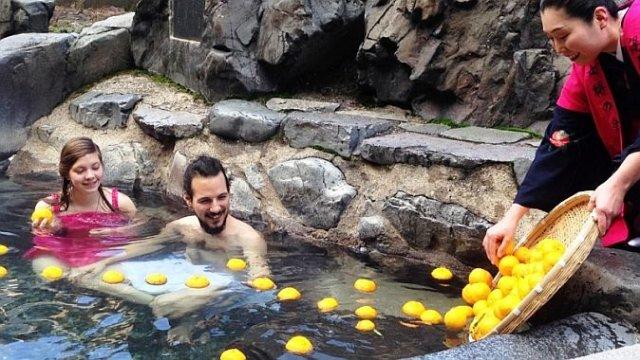 Сезон купания в цитрусах открылся в Японии