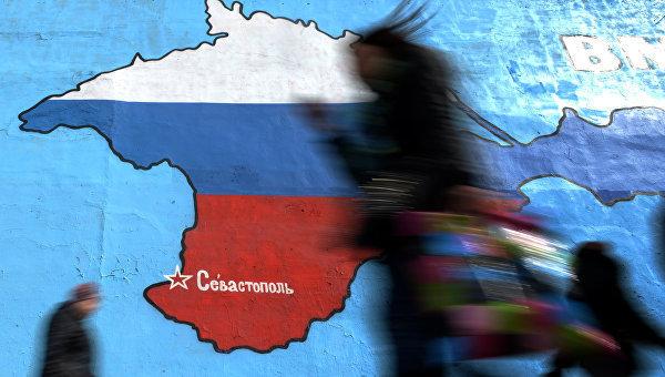 Украинские пользователи возмутились немецкой картой с российским Крымом