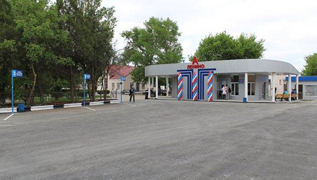 В поселке Ленино появилась новая модульная автостанция
