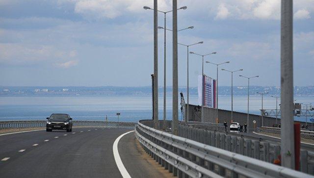 Больше тысячи машин проехали по Крымскому мосту за первый час
