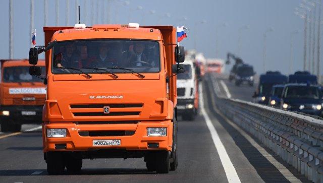 От Тамани в Керчь за 16 минут: Путин открыл Крымский мост