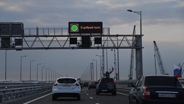 Крымский мост за 12 часов работы побил суточный рекорд Керченской переправы