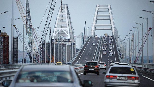 В выходные Крымский мост побил новый рекорд по количеству машин