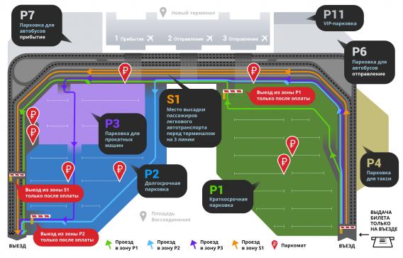 Парковка в аэропорту Симферополя стала платной