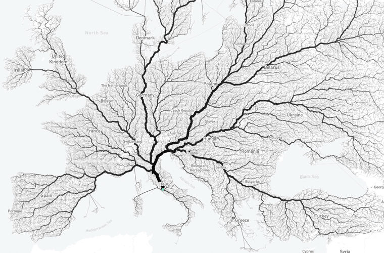 Исследование показало, что все дороги и правда ведут в Рим