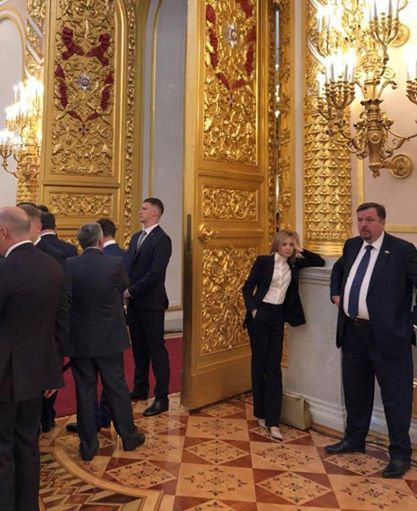 В Сети удивились отрешенности Поклонской на инаугурации Путина