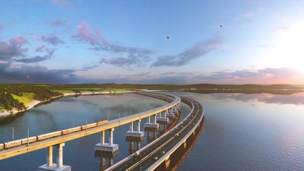 Автомобильное движение открылось по Крымскому мосту с обеих сторон Керченского пролива