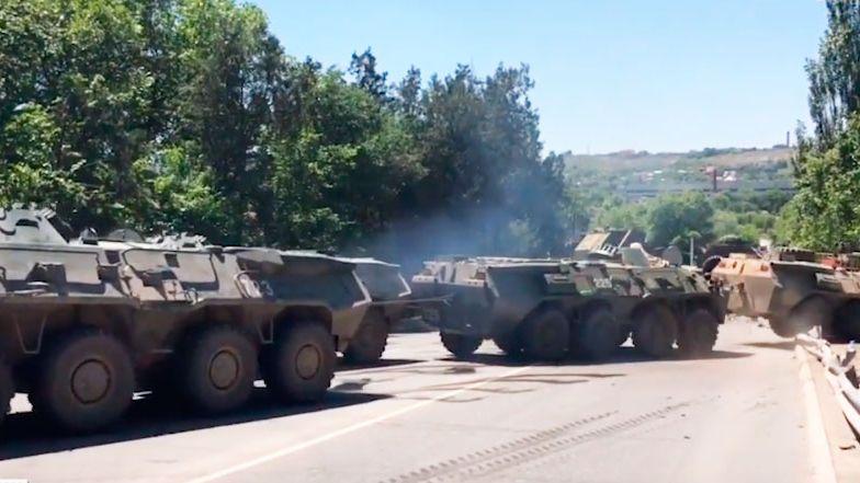 В Крыму БТР «улетел» с трассы