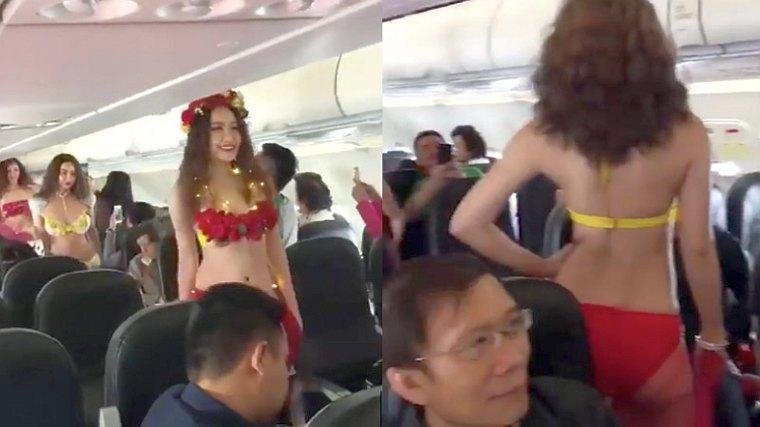 Авиакомпания «VietJet Air» запустила маршрут Бангкок-Далат с полураздетыми моделями на борту [ВИДЕО]