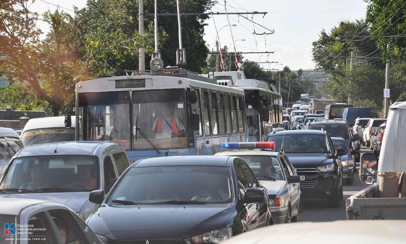 Утренние пробки: транспортный коллапс в Симферополь