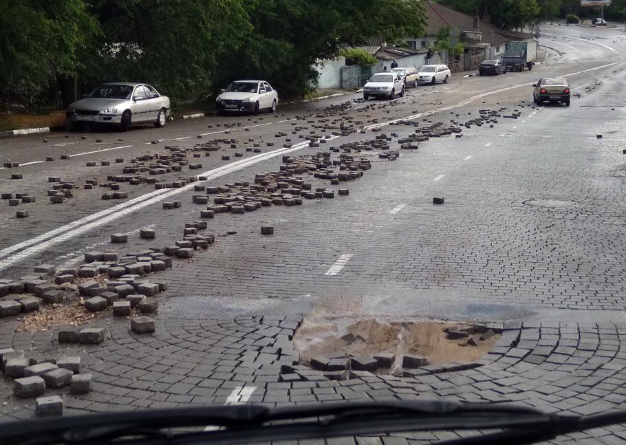 В Севастополе на улице Котовского ограничили движение