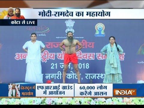 Самое массовое занятие по йоги прошло в Индии