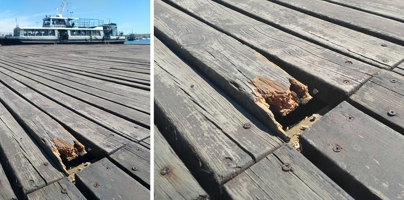 В Севастополе разваливается Графская пристань