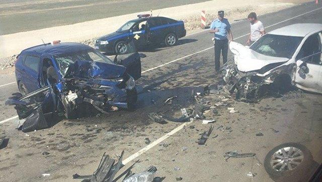 Очевидцы: в жутком ДТП на трассе Керчь – Феодосия погибла женщина