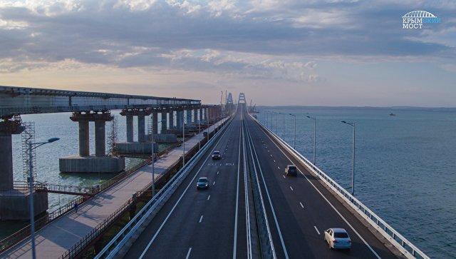 Более 70 тыс авто проехали по Крымскому мосту за выходные