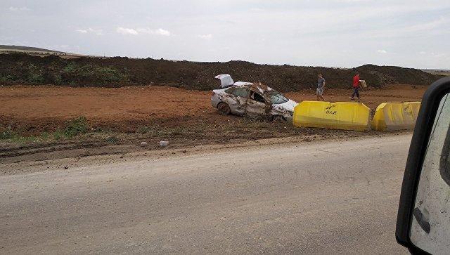 Уснул за рулем: в Крыму иномарка вылетела с дороги