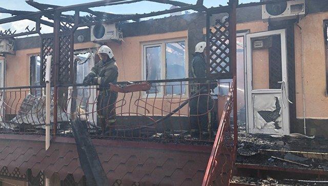 В Евпатории в результате пожара в пансионате пострадали 5 человек