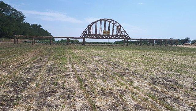 Фермер из Ставрополя построил 40-метровый Крымский мост из камыша