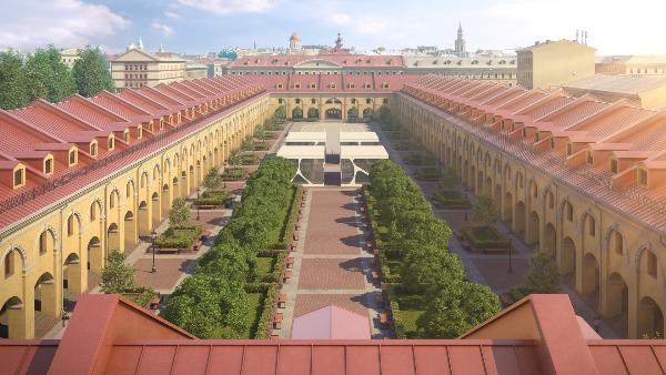 Петербургский Никольский рынок превратился в гостиничный симбиоз