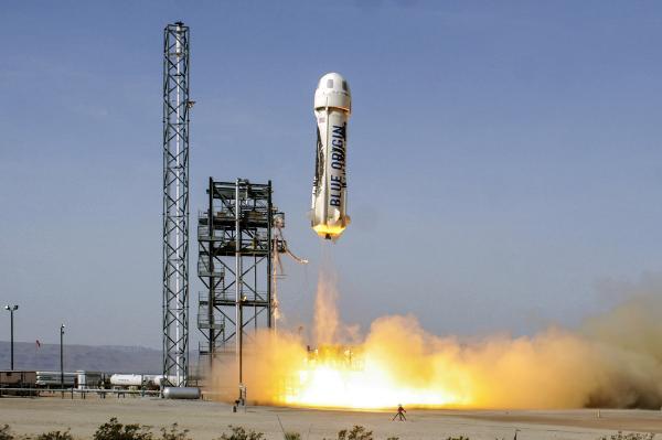 Blue Origin начнет продавать билеты космическим туристам в 2019 году
