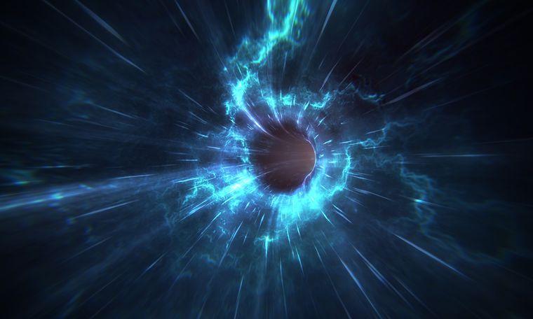 Черные дыры могут быть сталкивающимися червоточинами в пространстве