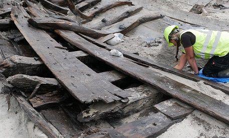 В датском Кёге нашли хорошо сохранившийся корабль