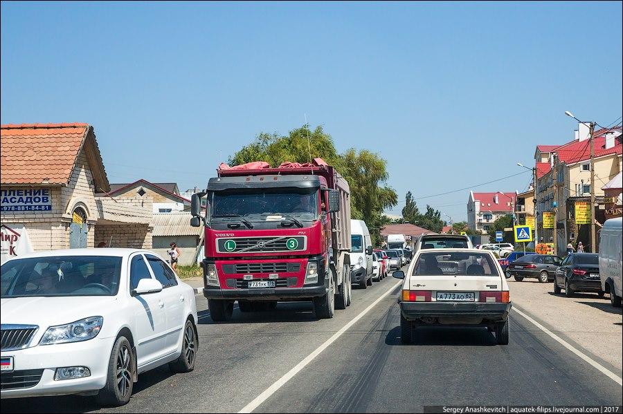Автопутешественники жалуются на пробки в Крым