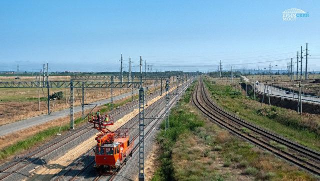 В Минтрансе рассказали о степени готовности ж/д части Крымского моста