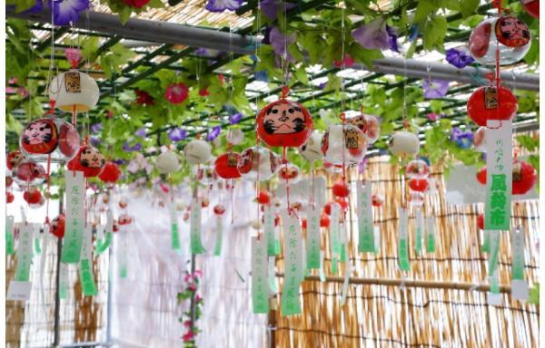 Fuurin-Ichi: фестиваль ветряных колокольчиков в храме Кавасаки Дайси