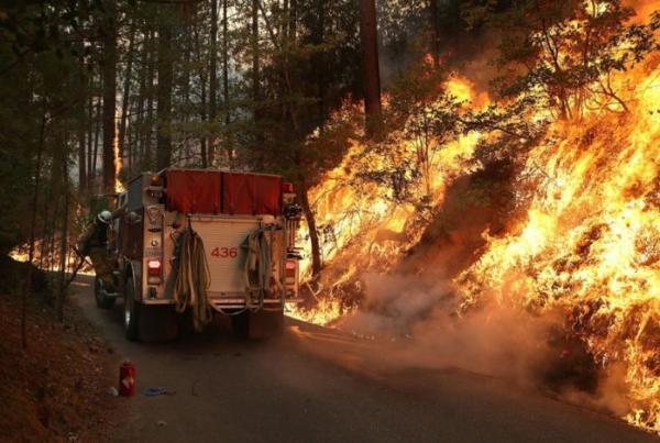 Сильные пожары продолжают продвигаться вглубь национального парка Йосемити в Калифорнии