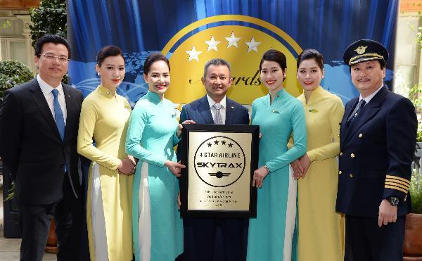 Vietnam Airlines третий год подряд становится обладателем «4 звезд Skytrax»