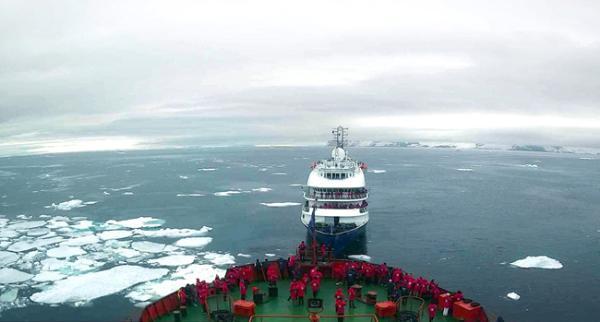 Компания Poseidon Expeditions завершила первый в этом сезоне круиз на Северный полюс