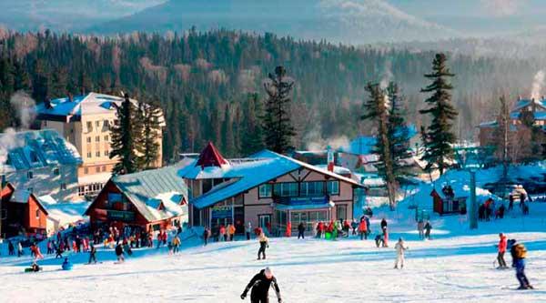 Популярный горнолыжный курорт Шерегеш