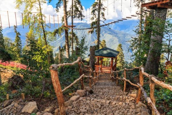 Почти четверть миллиона туристов посетили сочинский курорт «Горки Город» в летнем сезоне