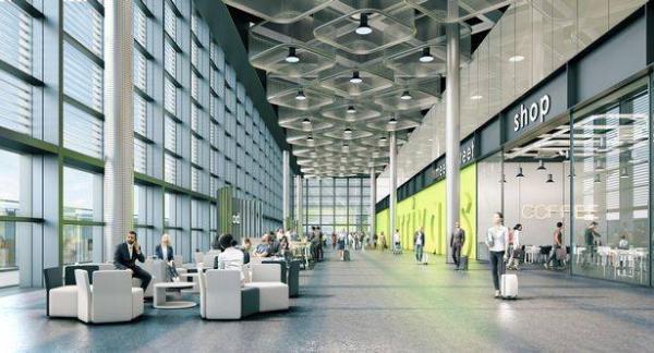 В лондонском аэропорту строят новый терминал