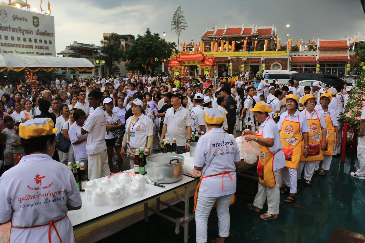 Вегетарианский фестиваль в Паттайе 2018