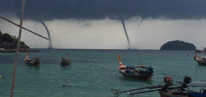 Морские смерчи в Таиланде (ВИДЕО)