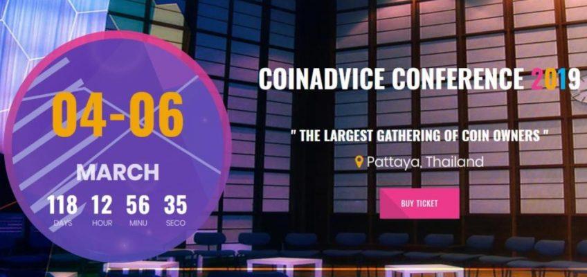 Паттайя приглашает на семинар в области криптовалют COIN ADVICE CONFERENCE 2019