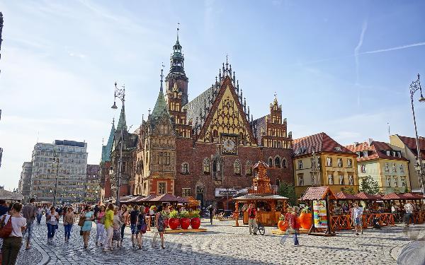 Вроцлав назван лучшим туристическим направлением Европы