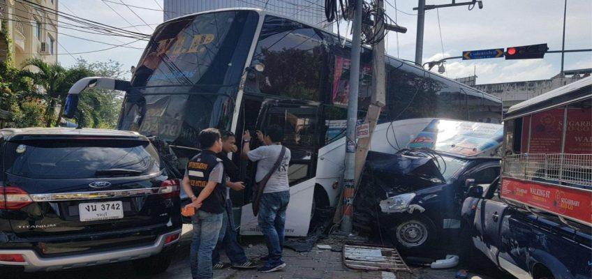 Множественная авария в Паттайе (ФОТО)