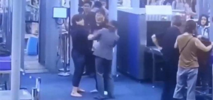 Видео: Корейская туристка оштрафована за пощёчину сотруднице аэропорта Суварнабхуми